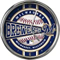 Milwaukee Brewers Chrome Clock