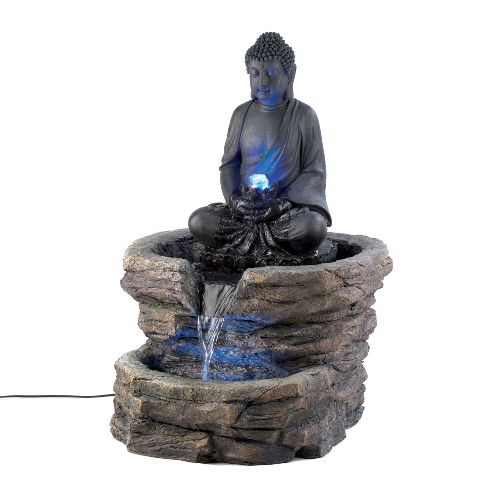 beautiful buddha fountains for indoor and outdoor garden. Black Bedroom Furniture Sets. Home Design Ideas