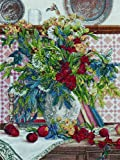 Bucilla 45669 Heirloom Counted Cross Stitch Picture Kits, Floral With Fruit