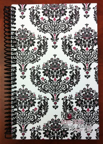 2011-2012 Daily Fashion Day Planner Organizer Agenda (August 2011 Through July 2012)- Damask
