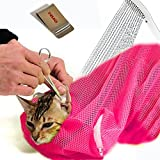 E'Plaza Adjustable Polyester Pet Cat Washing Mesh Bags for Cat Body Washing...