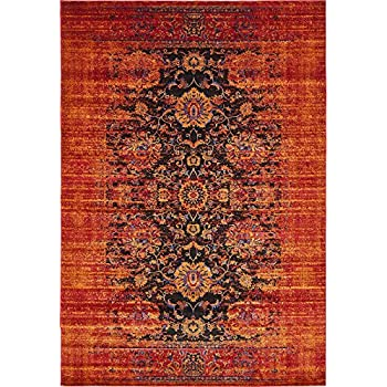 Vintage Contemporary Inspired Overdyed Distressed Rugs Black 4' 11 x 8' Chelsea Rug Traditional Area Rug Living room Bedroom Dining room Carpet
