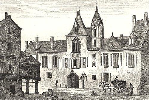 CHER. Maison de Jacques Coeur, Hotel de ville de Bourges - 1835 - old print - antique print - vintage print - Cher art prints (Hotel A Bourges compare prices)