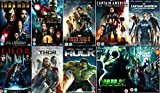 Avengers Ultimate Marvel Comic Heroes All 9 Movies DVD Complete Collection - Iron Man 1, Iron Man 2, Iron Man 3, Captain America : The First Avenger, Captain America: Winter Soldier, Thor 1, Thor 2: The Dark World, Hulk (Eric Bana), Incredible Hulk (Edwa