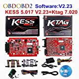 HITSAN Online Red EU Kess V5.017 V2.47 Ktag V7.020 No Token Limit Master Kess 5.017 K-tag 7.020 OBD2 Manager Tuning Kit Car/Truck