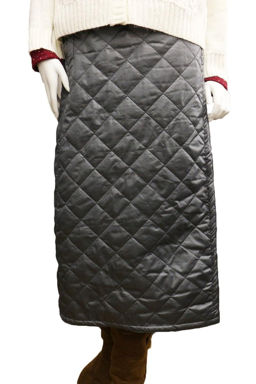 80874f4a9c120 山ガールファッション☆キルティング巻きスカート 防寒 ラップスカート ロング丈 中綿 キルティング