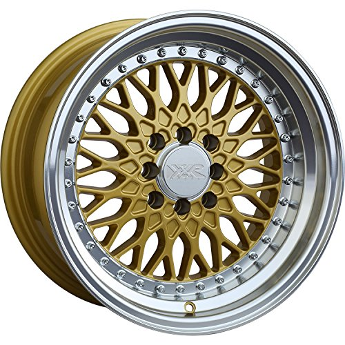 XXR 536 15 Gold Wheel / Rim 4x100 & 4x4.5 with a 0mm Offset and a 73.1 Hub Bore. Partnumber 53658467 (Gold Rims compare prices)