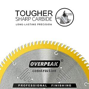 Overpeak 10-Inch Table Saw Blade ATB Ultra Fine Finishing 90 Teeth Wood Cutting Circular Saw Blades (Tamaño: 90T)