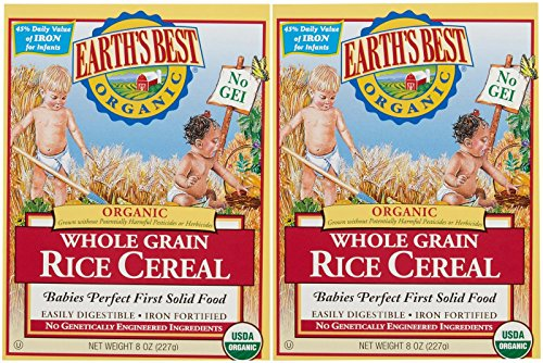 Earth's Best Baby Cereal - Rice - 8 Oz - 2 Pk (Rice Cereal Organic compare prices)