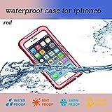 Nancys Shop Iphone 6 Waterproof Case, Waterproof Shockproof Dustproof Snowproof Protective Case Cover for Iphone 6 (4.7 Inch) (2 - Red)