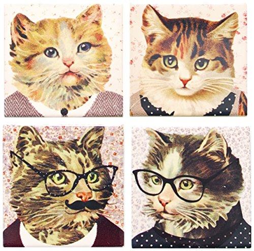 sass-belle-cat-dress-up-coaster-set-of-4