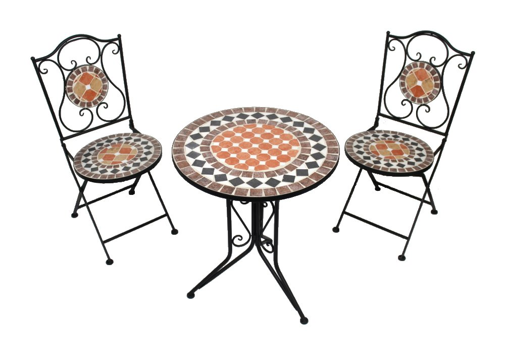 hochwertiges stabiles mosaik gartenm bel set tisch 2. Black Bedroom Furniture Sets. Home Design Ideas