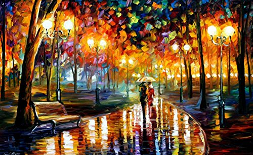 Rain' Rustle Palette Knife Oil Painting On Canvas Wall Art Deco Home Decoration 40 X 24 In Unframed