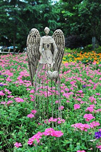 Attraction Design Antiqued Metal Garden Angel, 32