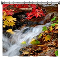 Autumn Forest Stream Shower Curtain - 69
