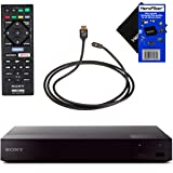 Sony BDPS6700 4K-Upscaling Blu-ray DVD Player with Super Wi-Fi + Remote Control, Bundled with Xtech High-Speed HDMI Cable with Ethernet + HeroFiber Cleaning Cloth