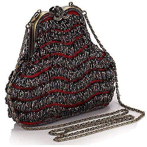 BEA129 Great Gatsby Style Fully Beaded Bag Vintage Evening Purse Classic Party Clutch Gift
