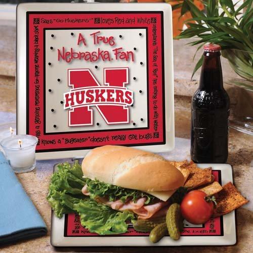 Ncaa Nebraska Cornhuskers True Fan Ceramic Square Plate