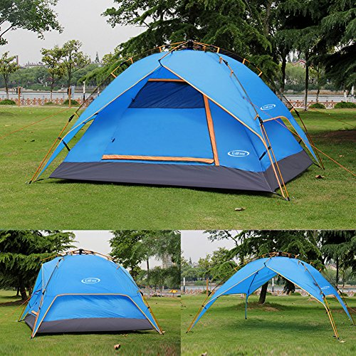 G4free Instant 3 4 Person Dome Tent Double Wall Two Door