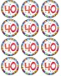 12 x 40th Birthday edible rice paper fairy / cup cake toppers pre cut decorations