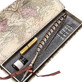 Antique Feather Pen Set