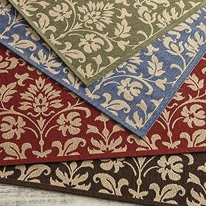Juniper indoor outdoor rug red 2 39 3 x 6 39 7 for Ballard designs kitchen rugs