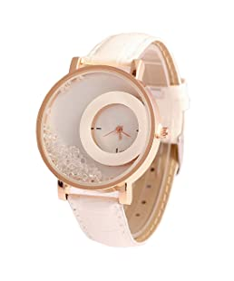 Orayan Synthetic Leather Round White Analogue Women's and Girl's Wrist Watch
