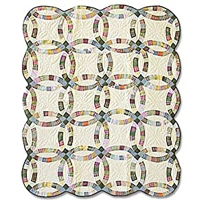 Patch Magic 50-Inch by 60-Inch Country Wedding Ring Throw