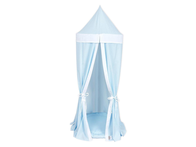KraftKids Hängezelt kleine Blätter hellblau auf Weiß und Uniweiss günstig bestellen