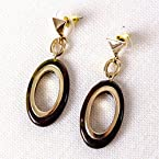 Tortoiseshell Oval Earrings