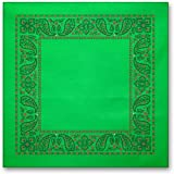 Two-color Bordered Handkerchief (14in)
