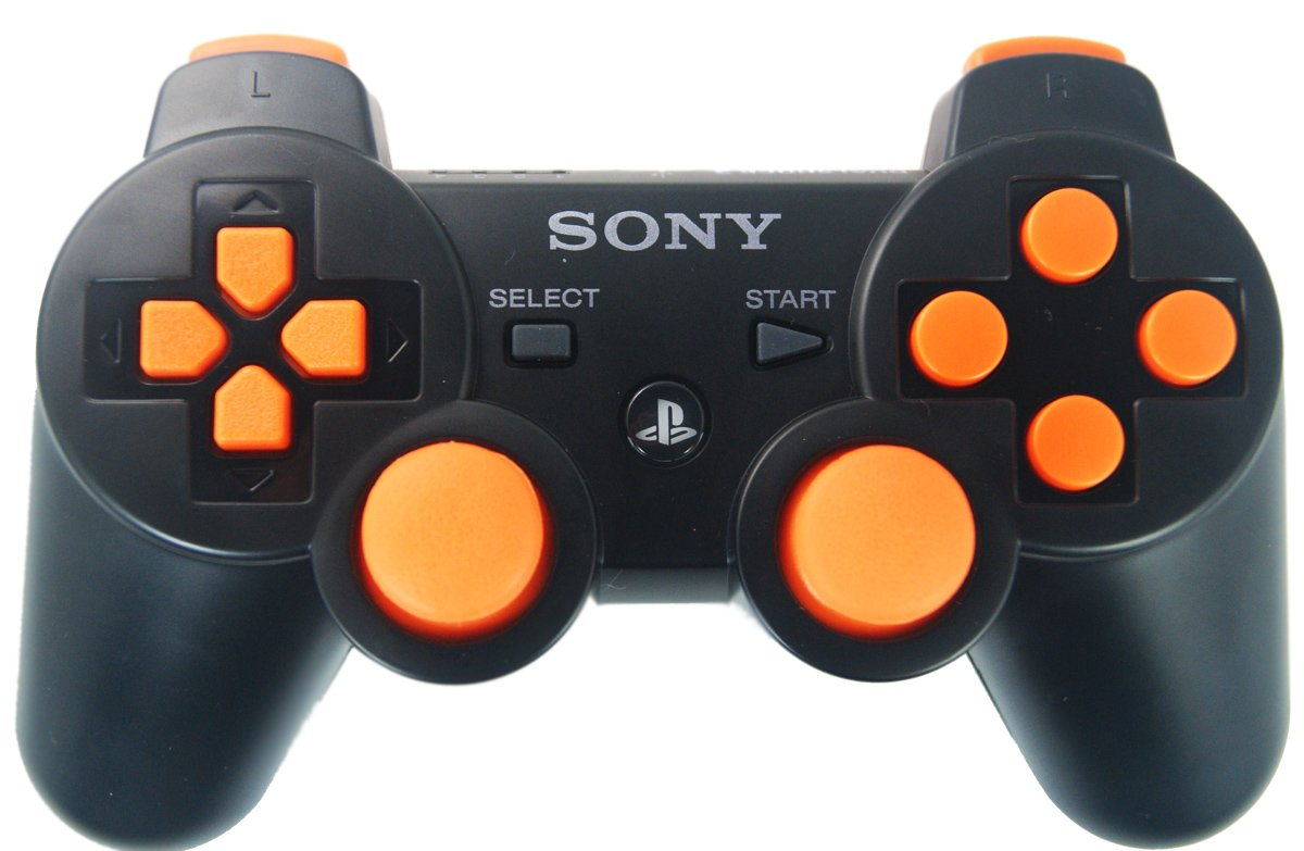 Ps3 Black/Orange Rapid Fire Modded Controller 30 Mode for COD Ghosts, Black Ops 2 Cod Mw3 Sniper Breath Jump Shot Jitter nuclear ps3 rapid fire custom modded controller 30 mods for cod ghost black ops 2 cod mw3 gow