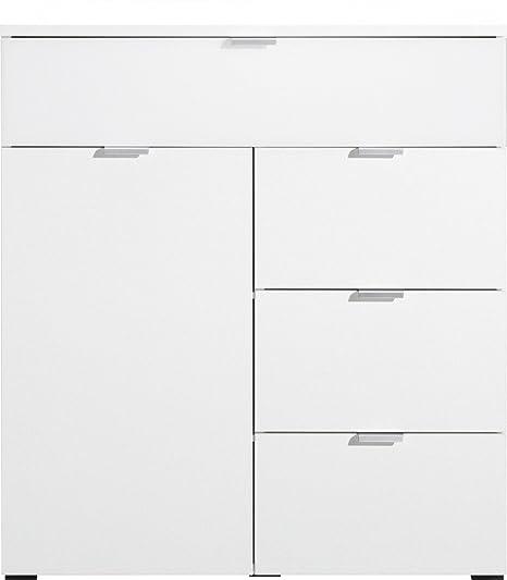 CS Schmalmöbel 35.093.012/12 Compleo Kommode Typ 12, 91 x 101 x 38.5 cm, weiß / weißglas