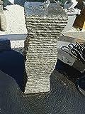 Granit QUELLSTEIN Pisa Granit Säule NATURSTEIN Gartenbrunnen Wasserbrunnen Wasserspiel