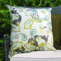 Olive Paisley Design Water Resistant Outdoor Filled Cushion for Cane/Garden Furniture from Gardenista