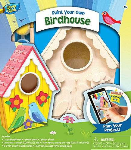 MasterPieces Works of Ahhh Birdhouse with Lovebirds Paint Kit