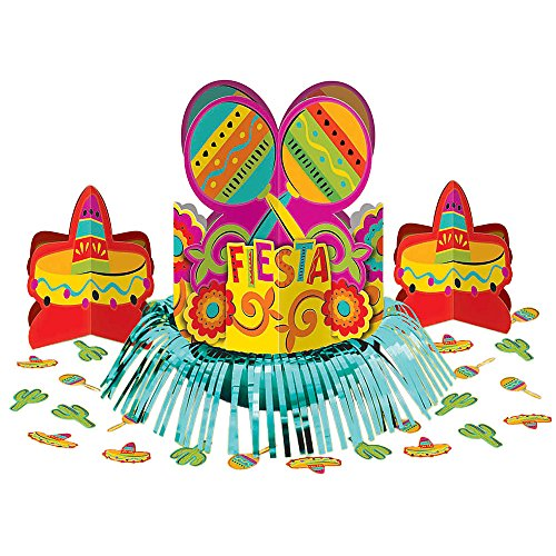 Amscan Fun-Filled Fiesta Cinco de Mayo Party Table Decorating Kit, Multi Color, 13.8 x 11.5