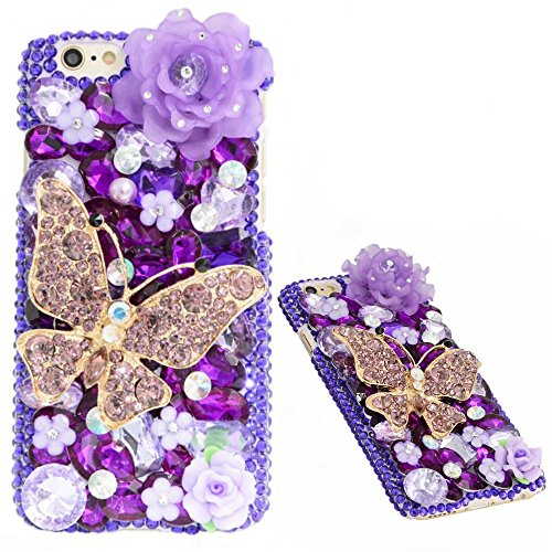 Best Review Of KAKA(TM) 3D Handmade Rhinestone Bling Crystal For iPhone 6 Plus/iPhone 6s Plus 5.5 Sc...