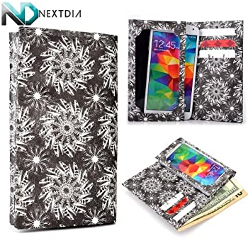 Archos 45 Helium 4G Tyvek Paper Wallet Case CoverDinosaur Bones and Skulls Black and White with Credit Card Holder & ND Velcro Cable Organizer coupons 2015