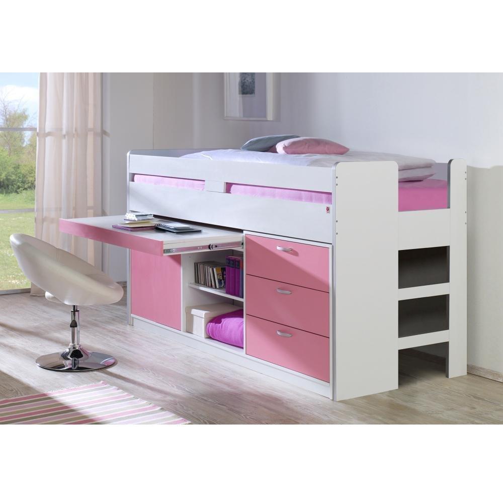Hochbett Bonny Relita WeißRosa Weiß Pink Holz kaufen