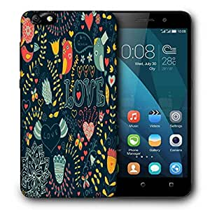 Snoogg Love Green Pattern Printed Protective Phone Back Case Cover For Huawei Honor 4X
