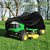 """Deluxe Riding Lawn Mower Tractor Cover Fits Decks up to 54"""" - Black - Water, Mildew, and UV Resistant Storage Cover"""
