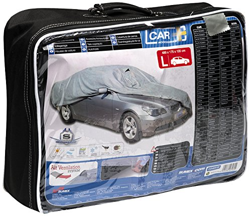 Sumex Cover1L Carplus - Telo Copriauto Universale - Mod. Classic Cover - L - 480 X 175 X 120 Cm