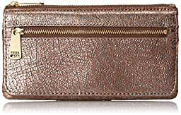 Fossil Preston Flap Wallet, Metallic, One Size