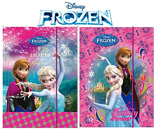 2 Stück - Frozen / Die Eiskönigin - Gummizugmappe DIN A4 - Disney - Eckspanner, Ordner, Schule