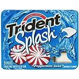Trident Splash Gum, Peppermint Swirl, 9-Piece Packs (Pack of 20) ~ Trident