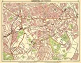 LONDON S:Camberwell Peckham Denmark/Herne Hill Dulwich New Cross Gate, 1921 map
