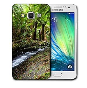 Snoogg Lake In Jungle Printed Protective Phone Back Case Cover For Samsung Galaxy A3