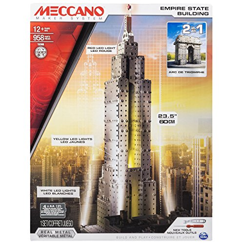 Meccano 6024902 - Empire State Building 2.0 Confezione per Costruire L'Empire State Building e L'Arco di
