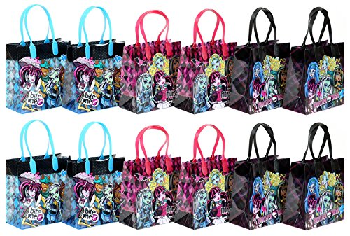 "Mattel Monster High Party Favor Goodie Gift Bag - 6"" Small Size (12 Packs)"